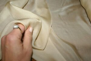 1m x 1.34m 'NUDE /BEIGE' Silk Blend Chiffon Fabric with Shimmer, Sewing Material