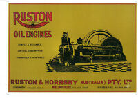 Ruston Yellow Oil Engines Metal Sign (WAR077)