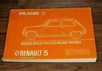 RENAULT 5 R5 1977-1978 original ERSATZTEIL KATALOG ETK  WERKSTATT HANDBUCH