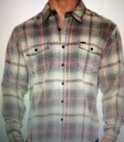 NWT Authentic True Grit Drifter Vintage Plaid Corduroy Shirt - Long Sleeve M