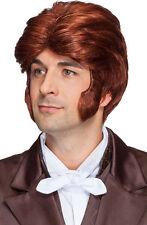 Berni Perücke mit Koteletten rot-braun NEU - Karneval Fasching Perücke Haare