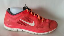 NIKE FREE TR FIT 4 629496-618 Hot Pink Orange Running Shoes Womens 8.5 M Sneaker