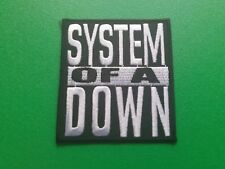 HEAVY METAL PUNK ROCK MUSIC SEW ON / IRON ON PATCH:- SYSTEM OF A DOWN (b) BLACK