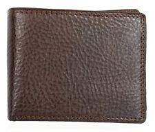 Men's medium brown genuine leather wallet with no logos or markings