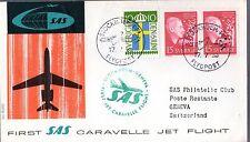 B0197- 1er  LIAISON AERIENNE   STOCKHOLM   GENEVE    SAS