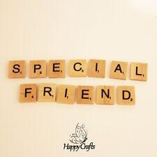 Lettre en bois aimant mot amie