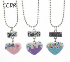 Hearts Necklace For Children Jewelry 3Pcs Friendship Best Friends Forever Love