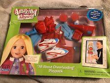 1999 Playmates Amazing Ally Allyson Cheerleader Playset New In Box