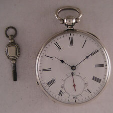 AMAZING GENT'S 150-Years-Old Cylindre KW/KS Swiss SILVER Pocket Perfect Serviced