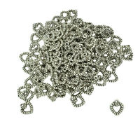100Pcs Lots of Tibetan Silver Tone Heart Charms Pendants For Jewelry Making