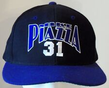 RARE Vintage anni'90-MIKE PIAZZA-MLB HALL DELLA FAME-Snapback Cappello Berretto Noce Moscata