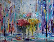 Large Modern Abstract Oil Painting rainy season Art canvas Wall Decor No framed