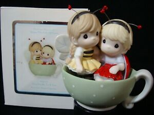 Precious Moments-Girlfriends In Teacup-You Fit Me To A Tea-Very Rare!!