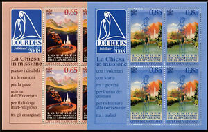 Vatican 1388-1389,Sheets of 4, MNH.Apparition of the Virgin Mary at Lourdes,2008