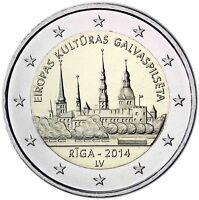 Lettland 2 Euro Gedenkmünze 2014 bfr. Europäische Kulturhauptstadt Riga