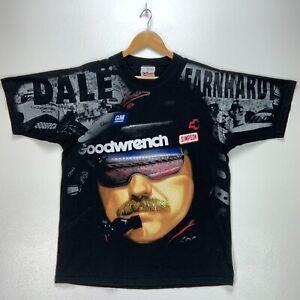 1998 Dale Earnhardt Chase Authentics Vintage T-shirt Large Black Nascar Aop 90s