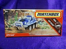 Matchbox Power Grabs Atv 6x6 Mbx Off-Road 3/20 Boxed Diecast 2019 New Release