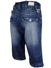 Pantalones cortos de hombre azul 100% algodón