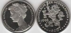 Nederland 1 ECU 1998 - Koningin Wilhelmina (d068)