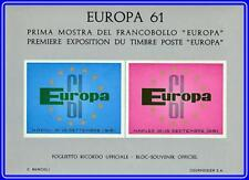 Europa-Cept 1961 Souvenir S/S from Stamp Show Mnh