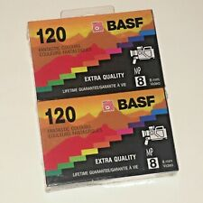 Pack of 2 BASF 8 mm Video Cassettes 120 NEW Factory Sealed