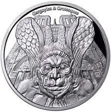 2017 1 Oz PROOF Silver SPITTER GARGOYLES & GROTESQUES Coin..
