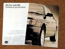 1994 AUDI 100 Sales Brochure & 1991 Specifications Brochure - S4 2.8 2.3 2.0 TDI