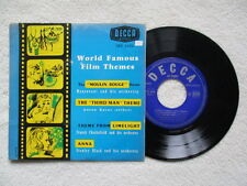 """45T 7"""" COMPILATION """"World Famous Film Themes"""" DECCA DFE 6126 FRANCE §"""