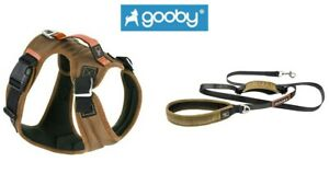 GOOBY Pioneer Dog Harness - Small Breed S M L XL or Matching Traffic Leash Sand