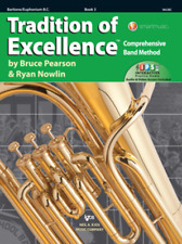Tradition Of Excellence-Baritone B.C. Music Book & Internet Access Level 3-New!