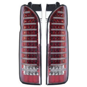 LED Tail Lights Lamp Color Red Lens Fit Toyota Hiace Commuter Van LWB 2010-2016