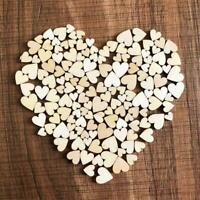 100x 4 Mixed Rustic Wooden Love Heart Wedding Table New Scatter Decoration C0J4