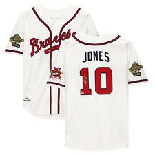 "CHIPPER JONES Autographed ""HOF 18"" Atlanta Braves Authentic Jersey FANATICS"