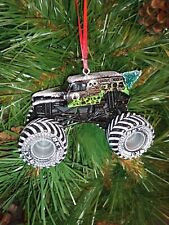 Spin Master Monster Jam Grave Digger (Gray Hubs) Christmas Ornament w/tree,snowR