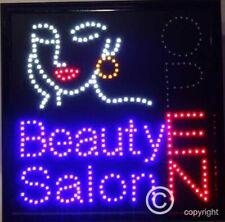 Flashing  BEAUTY SALON  led new  window Shop signs