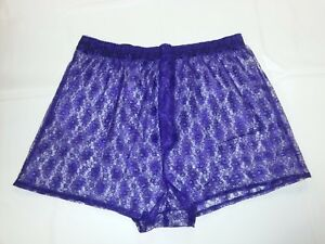 """Lace Boxer Shorts in Purple Size Medium  to Fit 34""""/36"""" Waist"""