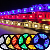 12V 5M SMD 5050 300 LED RGB Flexible Strip Light Waterproof Party Light 7Colors
