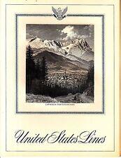 United States Lines Garmisch-Partenkirchen December 21 1968 Vintage Menu