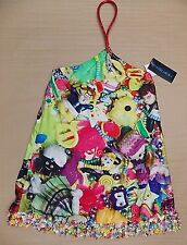 MANISH ARORA SILK MINI DRESS TOYS THEME>BNWT>GENUINE>£850+>VERY RARE>COLLECTORS