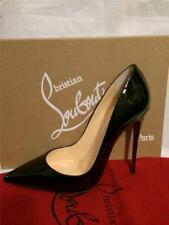 Christian Louboutin SO KATE Black Patent Leather Stilletto Heels 34.5 NIB