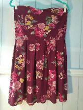 Womens XL Vintage Rose Strapless Sundress by No Bounderies