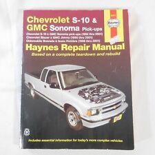 Haynes Repair Manual: Chevrolet S-10 and GMC Sonoma Pick-Ups,(1994 thru 2001)…