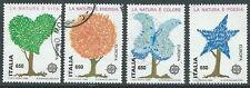 1986 ITALIA USATO EUROPA SALVAGUARDIA NATURA DA BLOCCO - D3-3