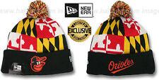 Orioles 'MARYLAND-FLAG POM-POM' Knit Beanie Hats by New Era