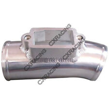 """CXRacing 3"""" Aluminum Air Intake Pipe Tube for 2JZGTE 2JZ-GTE with MAP Flange"""