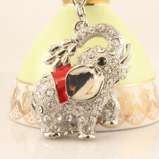 Showering Elephant Fashion Keychain Rhinestone Crystal Cute Animal Gift 01218