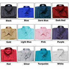 Shirt Men's Thai Silk S M L XL XXL /Short or Long Sleeve/Dress Casual Formal Men