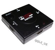 mini Switcher definition video 3 Port HDMI Switch Splitter for HDTV PS3 1080P DX