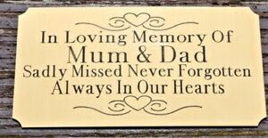 """SOLID BRASS MEMORIAL BENCH PLAQUE GRAVE MARKER SIGN 4""""X2"""" PERSONALISED OWN WORDS"""