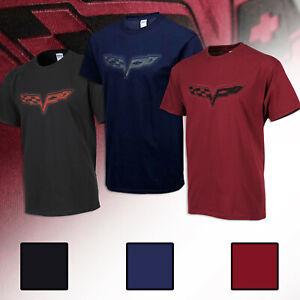 2005-2013 C6 Corvette Permanent Embossed Splat Printed T-Shirts 619957